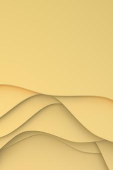 추상 종이 잘라 포스터 템플릿, 패턴 추상 예술 디자인