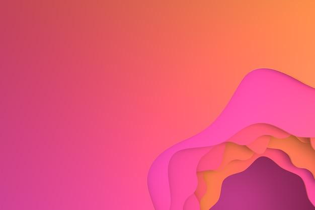Abstract paper cut art design