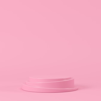 Abstract pastel color geometric shape, podium display for product. minimal concept. 3d rendering background.