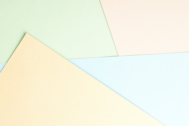 Abstract pastel color paper flat lay background. minimal composition with diagonal geometric lines. light romance backdrop
