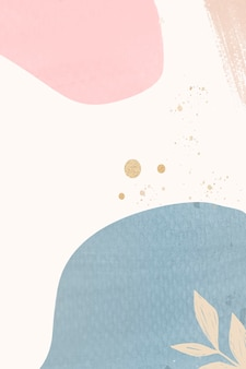 Abstract pastel memphis patterned background illustration
