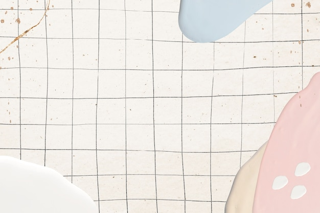 Abstract pastel paint on grid Free Photo
