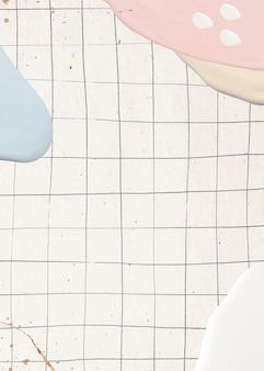 グリッド上の抽象的なパステルペイント
