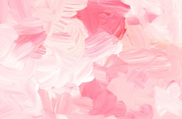 Abstract pastel pink and white background painting
