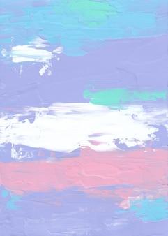 Абстрактная пастель фиолетовый, синий, зеленый, розовый, белый фон живопись
