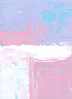 Абстрактная пастель фиолетовый, синий, розовый, белый фон живопись