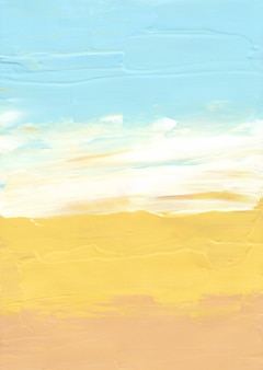 Abstract pastel yellow, blue and white background
