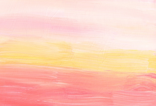 Abstract pastel yellow, peach and white background. blurred . brush strokes on paper. minimalist artwork
