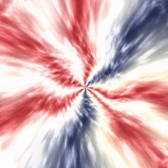 파티 축하, 투표, 7월 포스터, 기념관, 노동절, 수채화 패턴, 독립 및 대통령 선거를 위한 추상적인 애국적 빨간색 흰색 및 파란색 흐림 넥타이 염료 배경