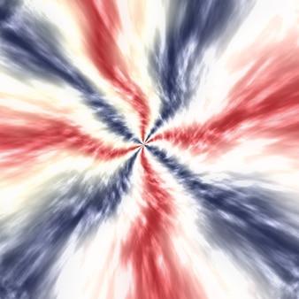 파티 축하 투표 7월 포스터를 위한 추상적인 애국적 빨간색 흰색 및 파란색 흐림 넥타이 염료 배경
