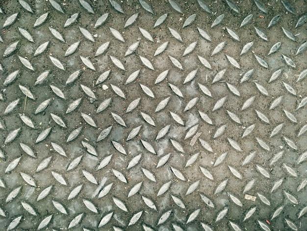 Abstract pattern background steel floor in industrial factory