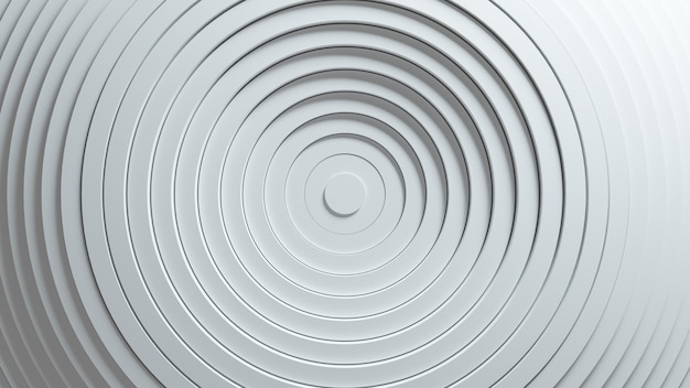 Abstract pattern of circles with the effect of displacement. white clean rings animation.