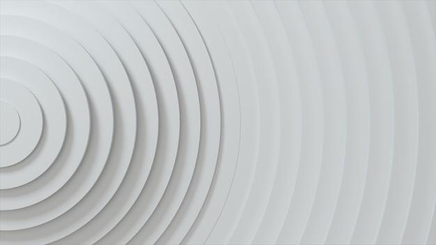 변위 효과와 원의 추상 패턴입니다. 화이트 빈 반지.