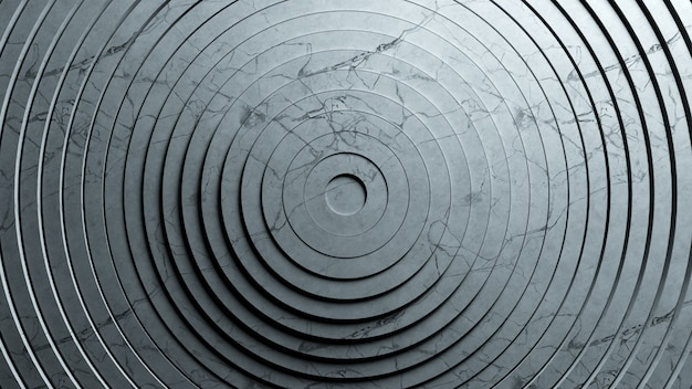 Абстрактный узор кругов с эффектом смещения. анимация чистых колец из фактурного мрамора.