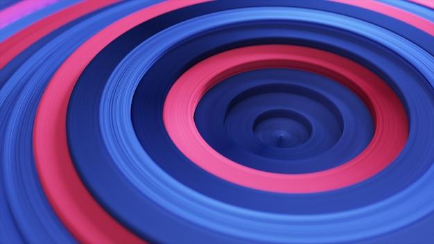 오프셋 효과와 다채로운 서클의 추상 패턴입니다. 빨간색 파란색 반지.