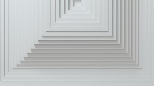오프셋 효과와 사각형의 추상 패턴입니다. 화이트 빈 큐브.