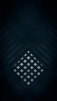 スマートフォン用アスファルトダークブラック背景壁紙テンプレートの白い正方形の抽象的なパターン
