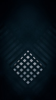Abstract pattern of white squares on an asphalt dark black background wallpaper template for smartphone