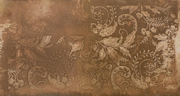 장식용 잎 장식용 세라믹 타일이 있는 추상 패턴