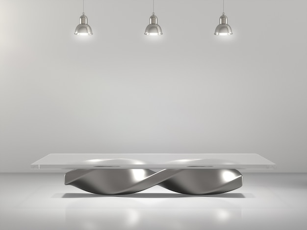 Abstract pedestals for product showing