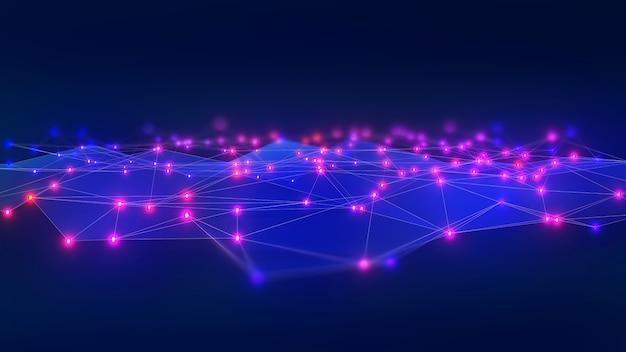 Абстрактный фон фото контакт коммуникация сеть, соединение группы данных, 3d иллюстрация