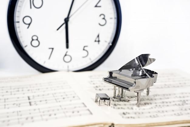 음악의 추상 사진입니다. 피아노 재즈 음악.