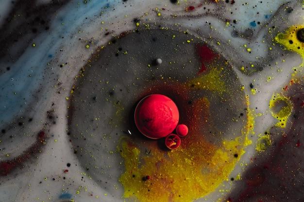 Абстрактная фотография пузырей. макромир. творческая художественная фотография.