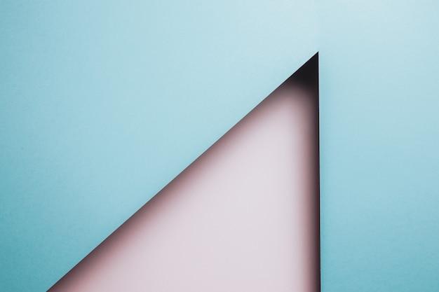추상 분홍색 및 파란색 용지 형상 구성 배경, 최소한의 그림자, 복사 공간. 최소한의 기하학적 모양. 화려한 배경 개념, 트랜스젠더 플래그