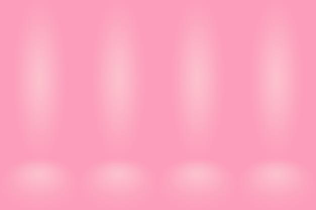 抽象的なピンクの背景クリスマスバレンタインレイアウトデザイン、スタジオ、部屋、ウェブテンプレート、滑らかな円のグラデーションカラーのビジネスレポート。