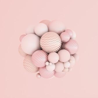 Абстрактный розовый фон, частица минимализма студии. 3d иллюстрации, 3d-рендеринг.