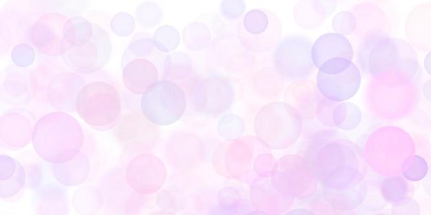 白い背景の上の抽象的なピンクの泡
