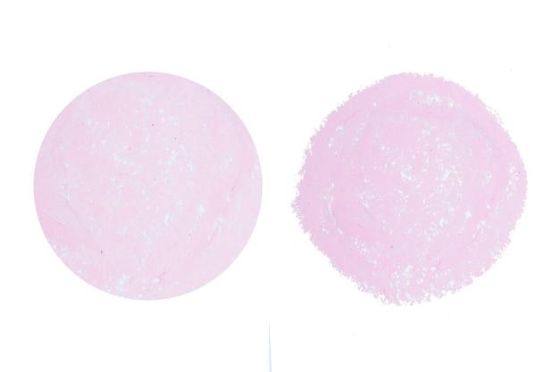 추상 분홍색 원 손으로 배경을 그립니다.