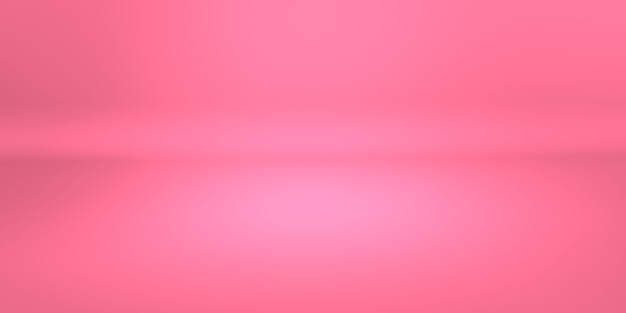 Abstract pink coral gradient background empty space studio room for display product ad website. 3d illustration rendering