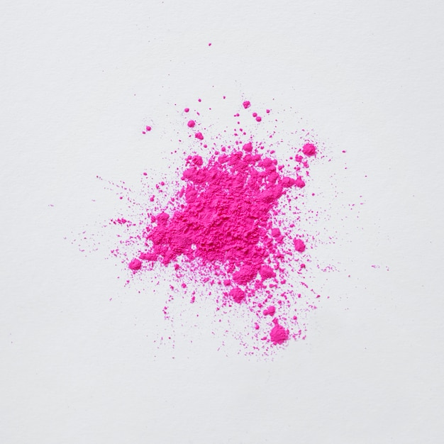 Abstract pink dust explosion