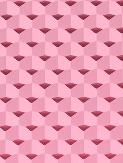 Абстрактная розовая геометрическая архитектура, узор блоков, современный дизайн фасада здания. 3d-рендеринг.