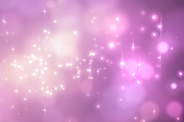 Abstract pink glowing bokeh background