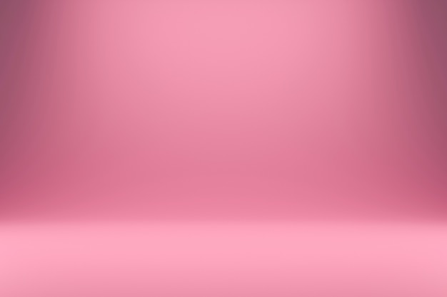 Abstract pink and gradient light  with studio backdrops. blank display or clean room for showing product. realistic 3d render.