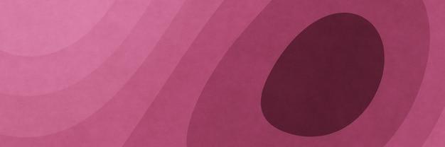 抽象的なピンクのグラフィック輪郭ペーパーアートの背景 Premium写真