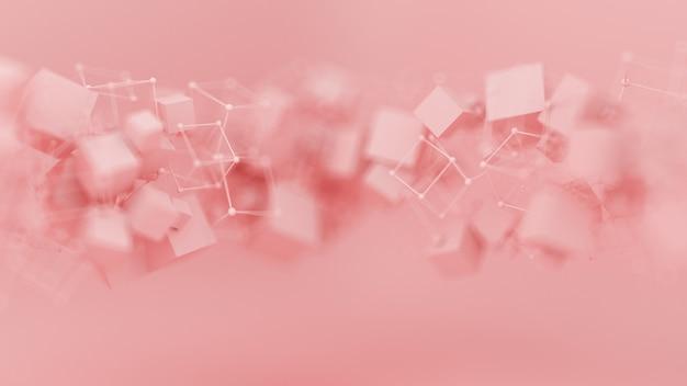 Абстрактный розовый фиолетовый фон, частица минимализма студии. 3d иллюстрации, 3d рендеринг.