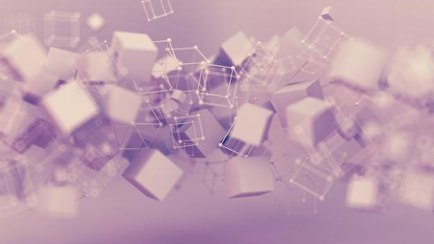 Абстрактный розовый фиолетовый фон, частица минимализма студии. 3d иллюстрации, 3d-рендеринг.