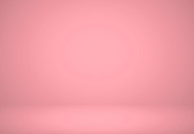 抽象的なピンクの赤い背景のクリスマスとバレンタインのレイアウトデザイン、スタジオ、部屋、webテンプレート、滑らかな円のグラデーションカラーのビジネスレポート。