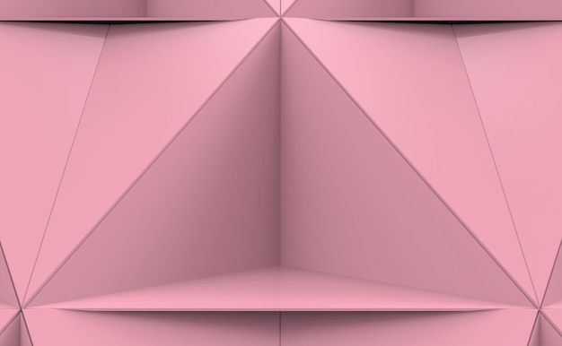 Abstract pink tri polygon plate shape pattern background.