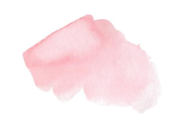 テキストまたはロゴの白い背景の水彩クリップアートに抽象的なピンクの水彩画