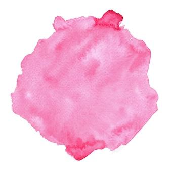 화이트에 추상 핑크 수채화입니다. 종이에 컬러 밝아진.