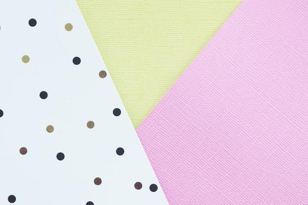 黒と茶色の水玉模様の抽象的なピンク、かからず、ホワイトペーパーの背景。