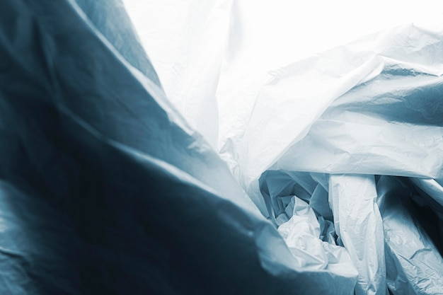 Abstract plastic bag concept with copy space
