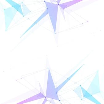 接続された線と点の抽象的な神経叢の背景波の流れ神経叢の幾何学的効果ビッグデータ..。