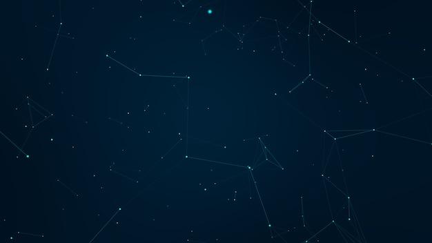 Абстрактные сплетения синие геометрические фигуры. подключение и веб-концепция. цифровая связь.