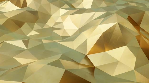 抽象的な神経叢黄金の幾何学的形状のテクスチャと背景