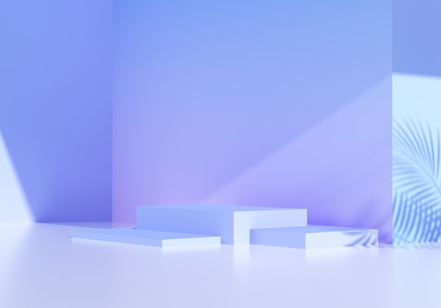 Abstract podium background, mockup for product showcase studio. 3d rendering illustration.